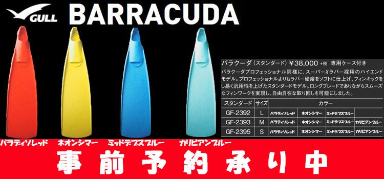バラクーダ2020モデル フィン