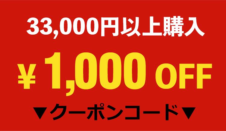 33,000円以上購入1,000円OFFクーポン!
